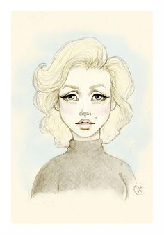 236x339 Collection Of Marilyn Monroe Hair Drawing High Quality, Free