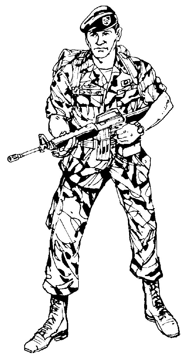 Marine Soldier Drawing