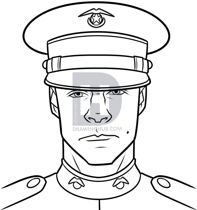 674x720 How To Draw A Marine, Step By Step, Drawing Guide, By Darkonator