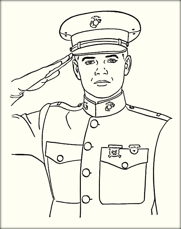 589x744 Marine Corps Coloring Pages