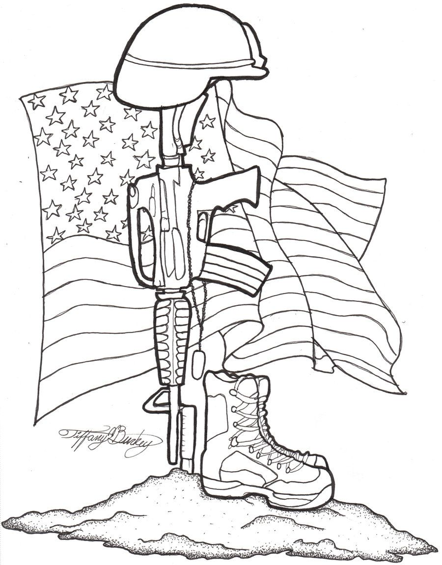 900x1151 Soldier Memorial Drawing Sugar Tattoo, Small