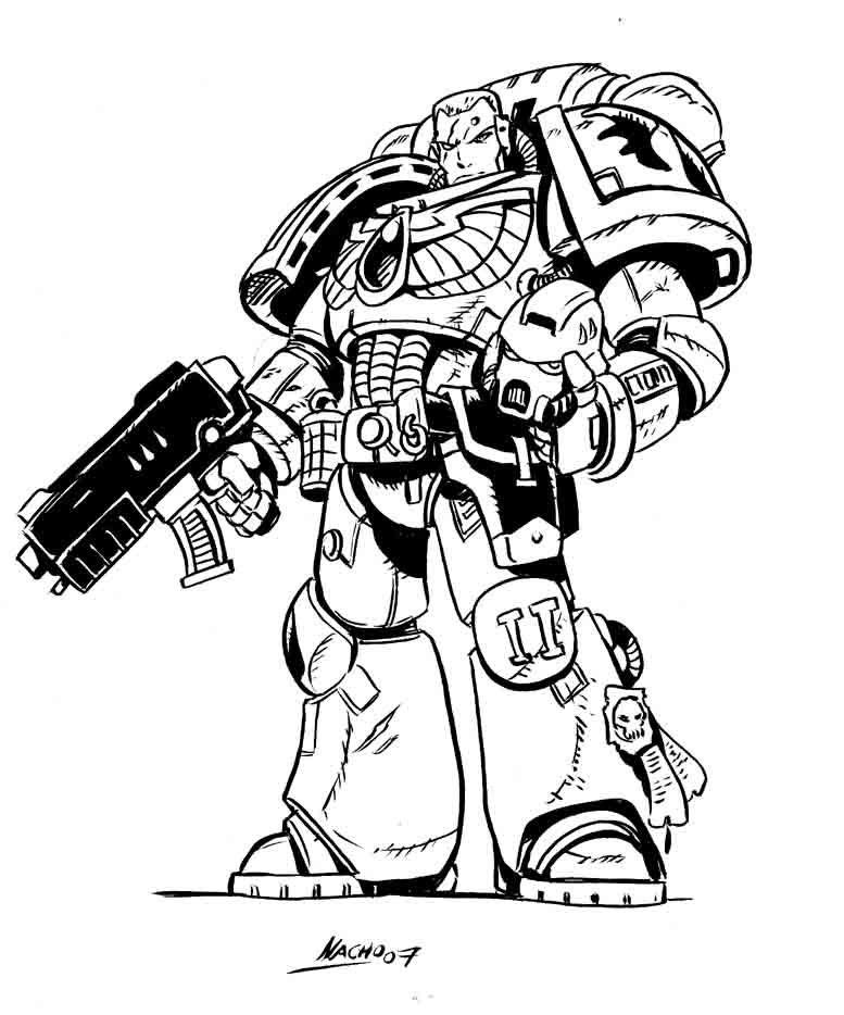777x934 Space Marine By Nachomon