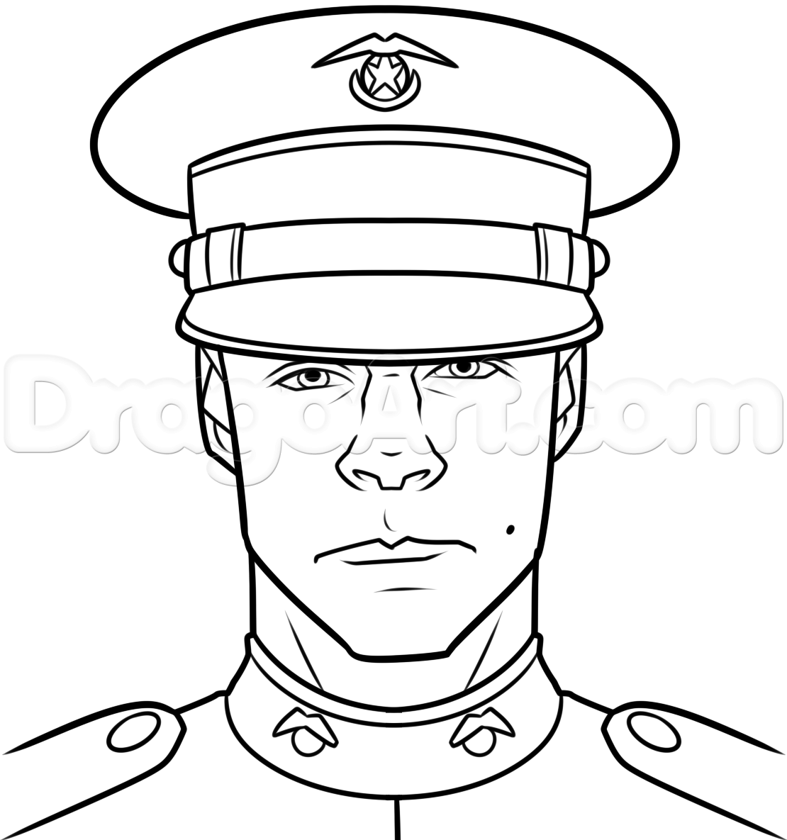 1110x1185 Collection Of Marine Soldier Drawing High Quality, Free