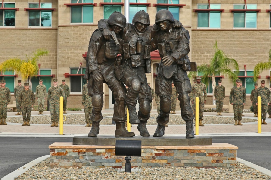 900x600 No Man Left Behind' Statues Hold Special Meaning For Marines