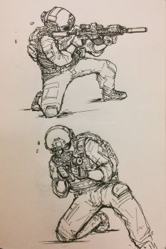 233x350 Patrol, Soldiermarine Drawing