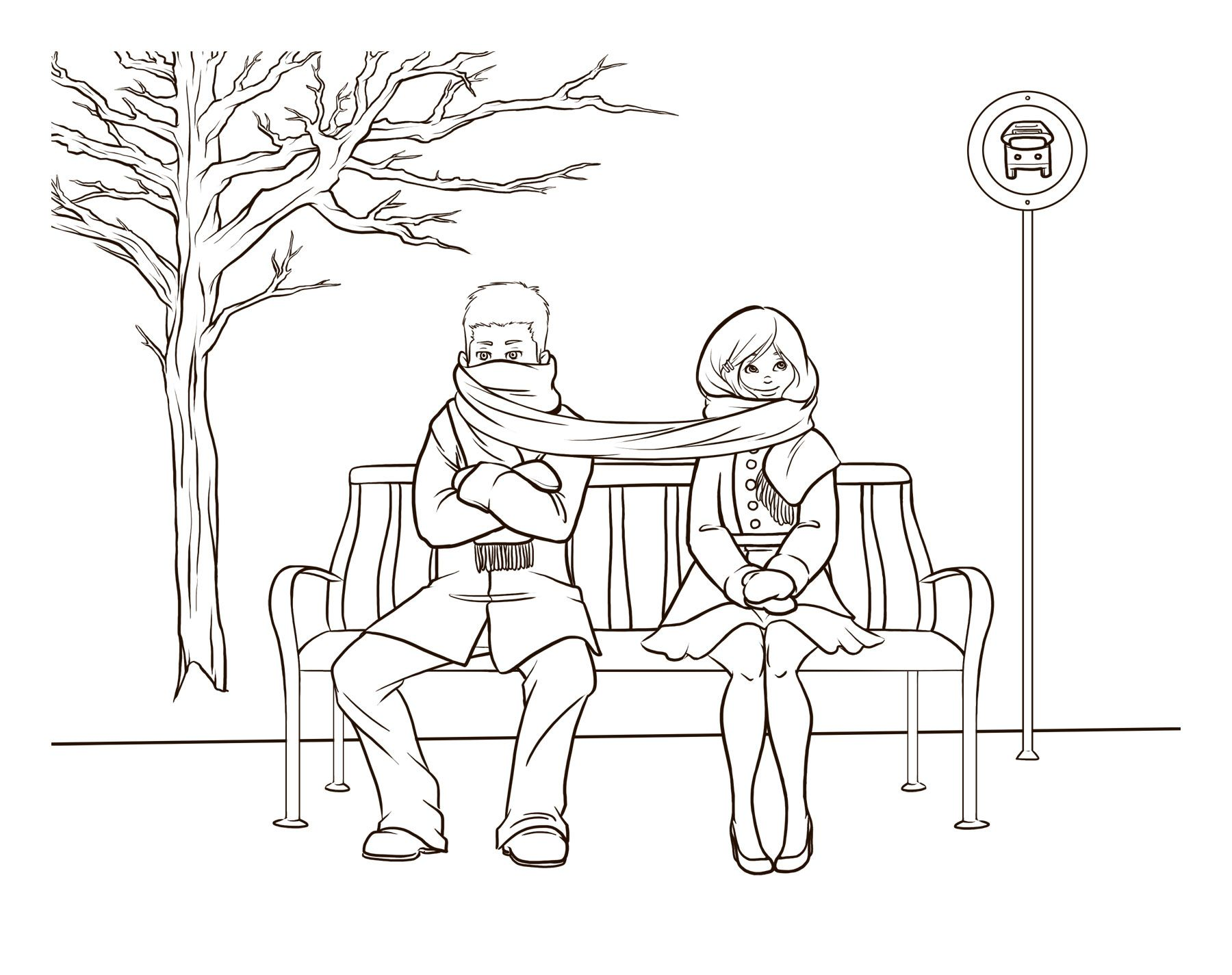 1800x1425 Married Couple Sketch