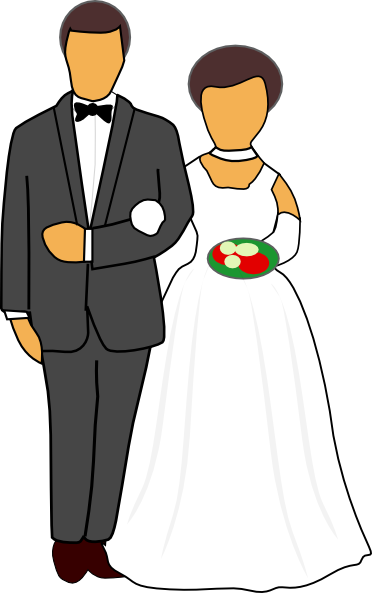 372x593 Gallery Clip Art Of Marriage Couple,