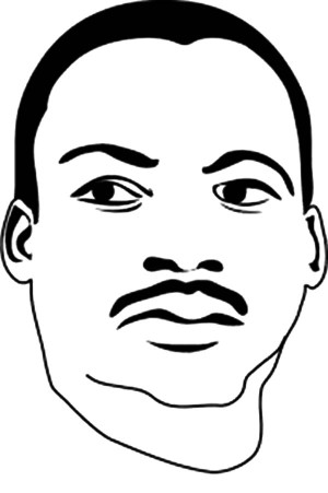 Martin Luther King Drawing Step Step