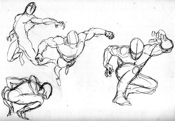 600x416 Superhero Poses Reference Of Poses And Gestures. Draw