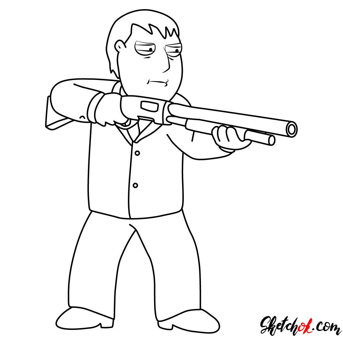1200x1200 How To Draw Mayor Adam West With A Rifle