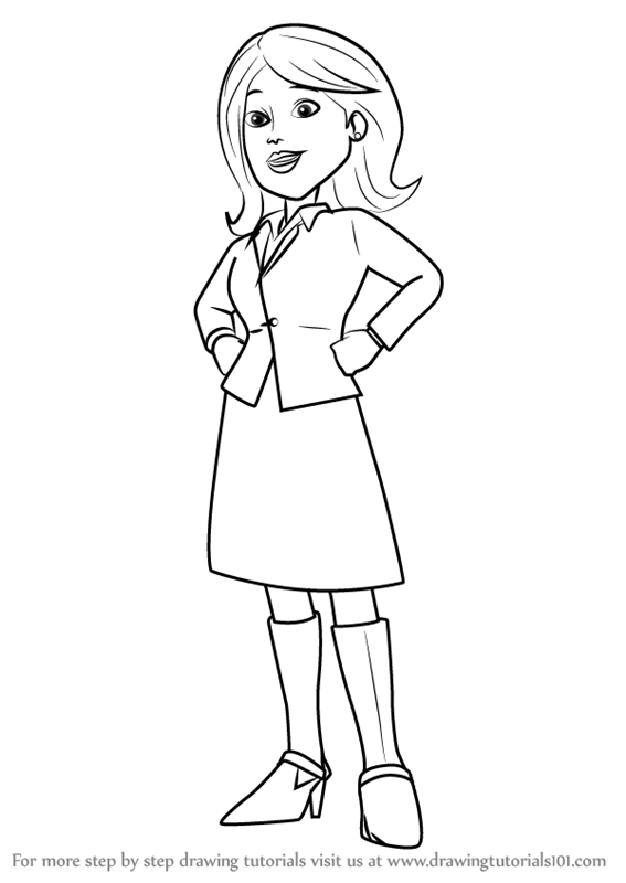 567x800 Learn How To Draw Mayor Madison From Bob Builder 2015 (Bob