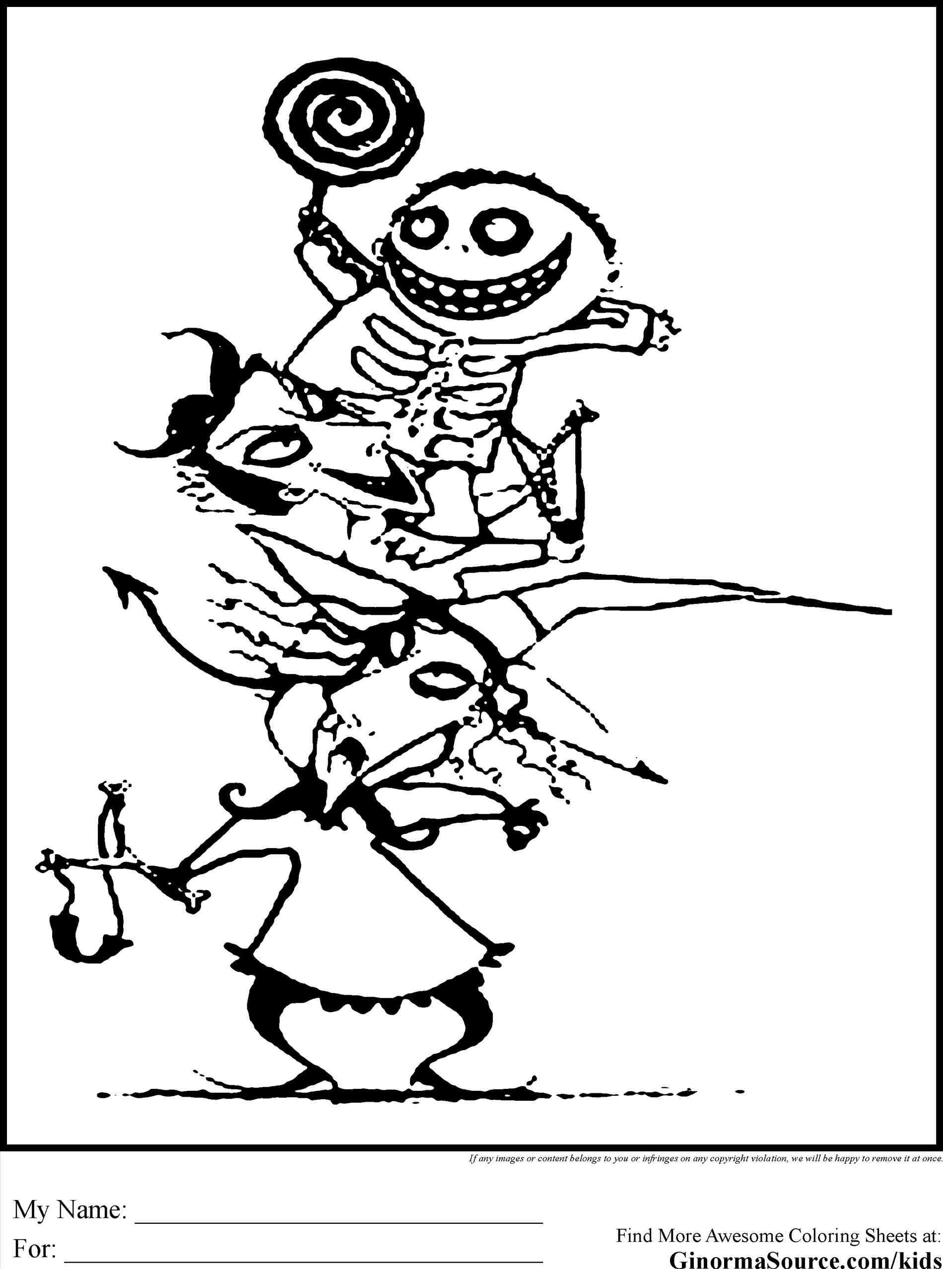 1900x2557 Hocus Pocus Nightmare Before Christmas Coloring Pages Mayor