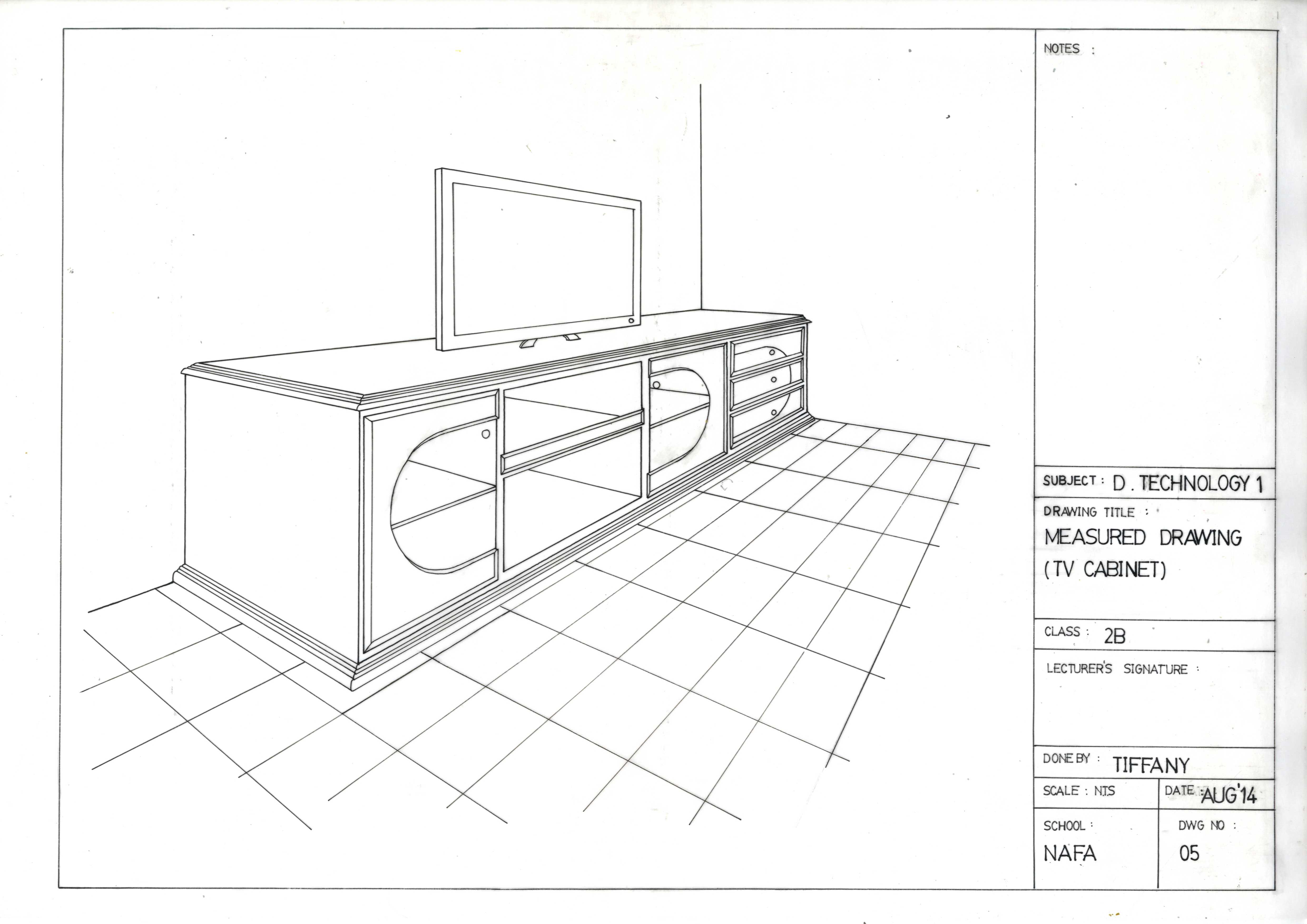 4962x3509 Tiffany Chow Portfolio Drafting (Manual Technical Drawing)