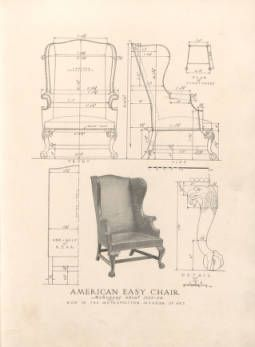 255x347 An Exemplar Of Antique Furniture Design A Collection Of Measured