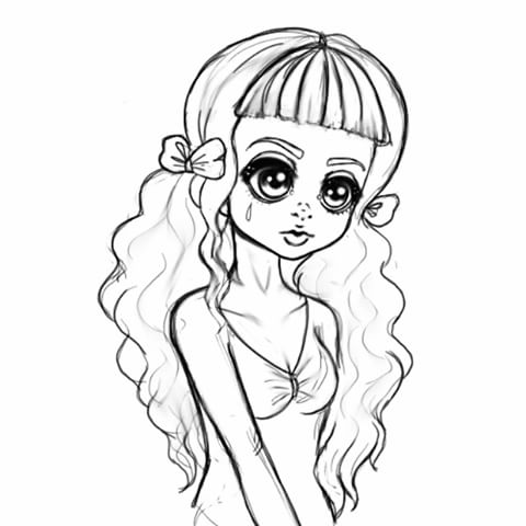 Melanie Martinez Cartoon Drawing At Getdrawings Com Free For