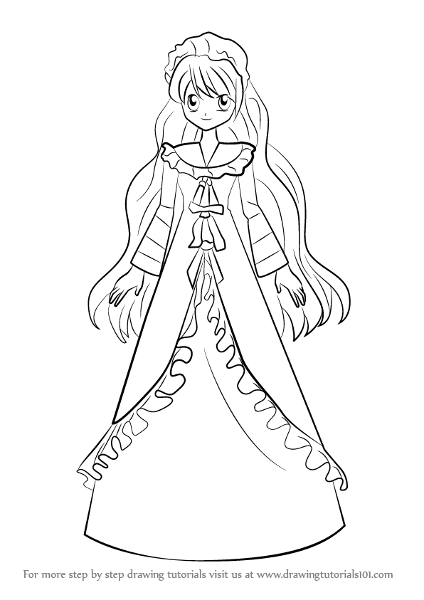 596x843 Learn How To Draw Yuri From Mermaid Melody (Mermaid Melody) Step