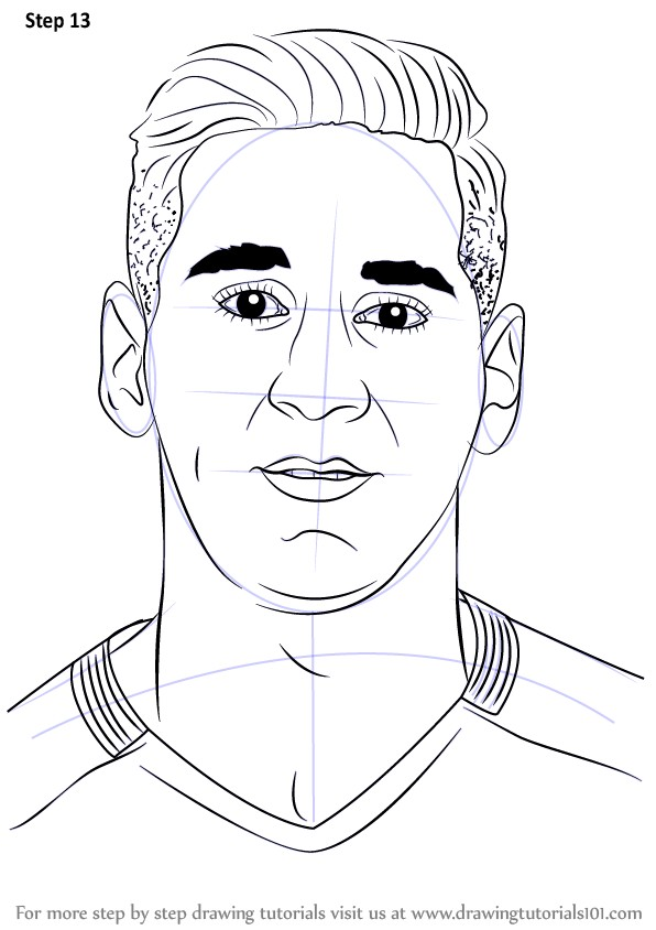 596x844 How To Draw Lionel Messi Cartoon Inspirational Easy Drawing Messi