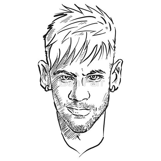 550x550 Collection Of Neymar Line Drawing High Quality, Free