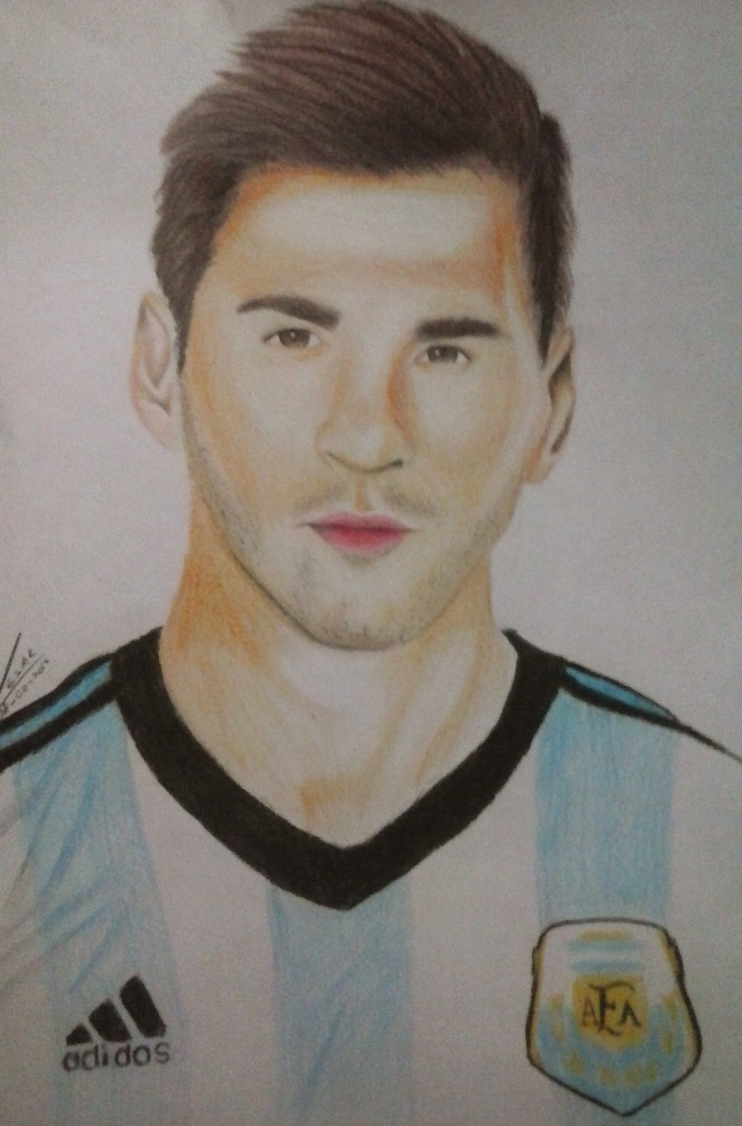 1055x1600 Messi Drawing Step By Step Wellerson Cesar Drawing Lionel Messi