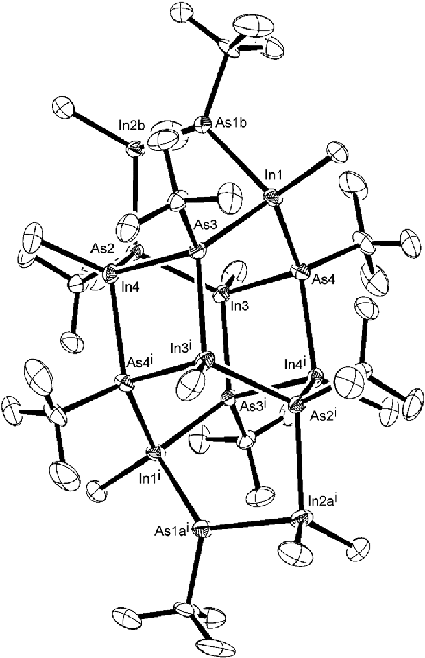 620x959 Ray Crystal Structure Of The Indium Arsenide Cluster Isolated