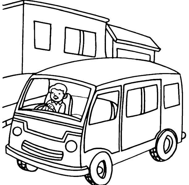 612x600 Coloring Pages Van Metro Van Coloring Page Download Free Metro Van