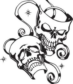 236x271 Clown Mexican Skull Tattoo Live Now Die Later Ink