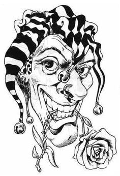 236x346 Very Scary Clowns Evil Clown Drawing By Mario Pichler