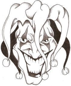 236x284 Evil Clown Drawings