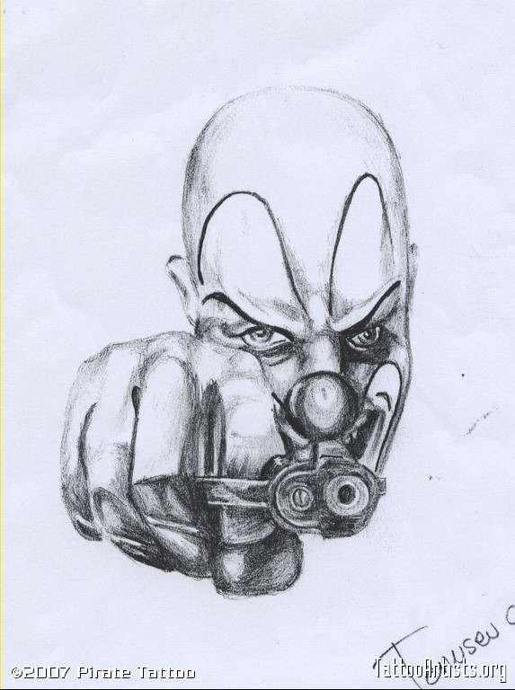 573x768 Collection Of Mexican Gangster Clown Drawing High Quality