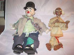 300x225 Mexican Wood Doll Plus Clyde Clown Doll 2 Dolls Total Ebay