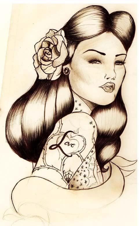 480x781 Chola Large East Side Street Style Chicano Art