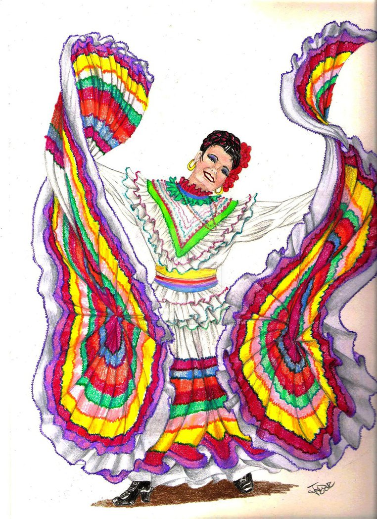 762x1048 Traditional Mexican Dancer By Winstonscreator