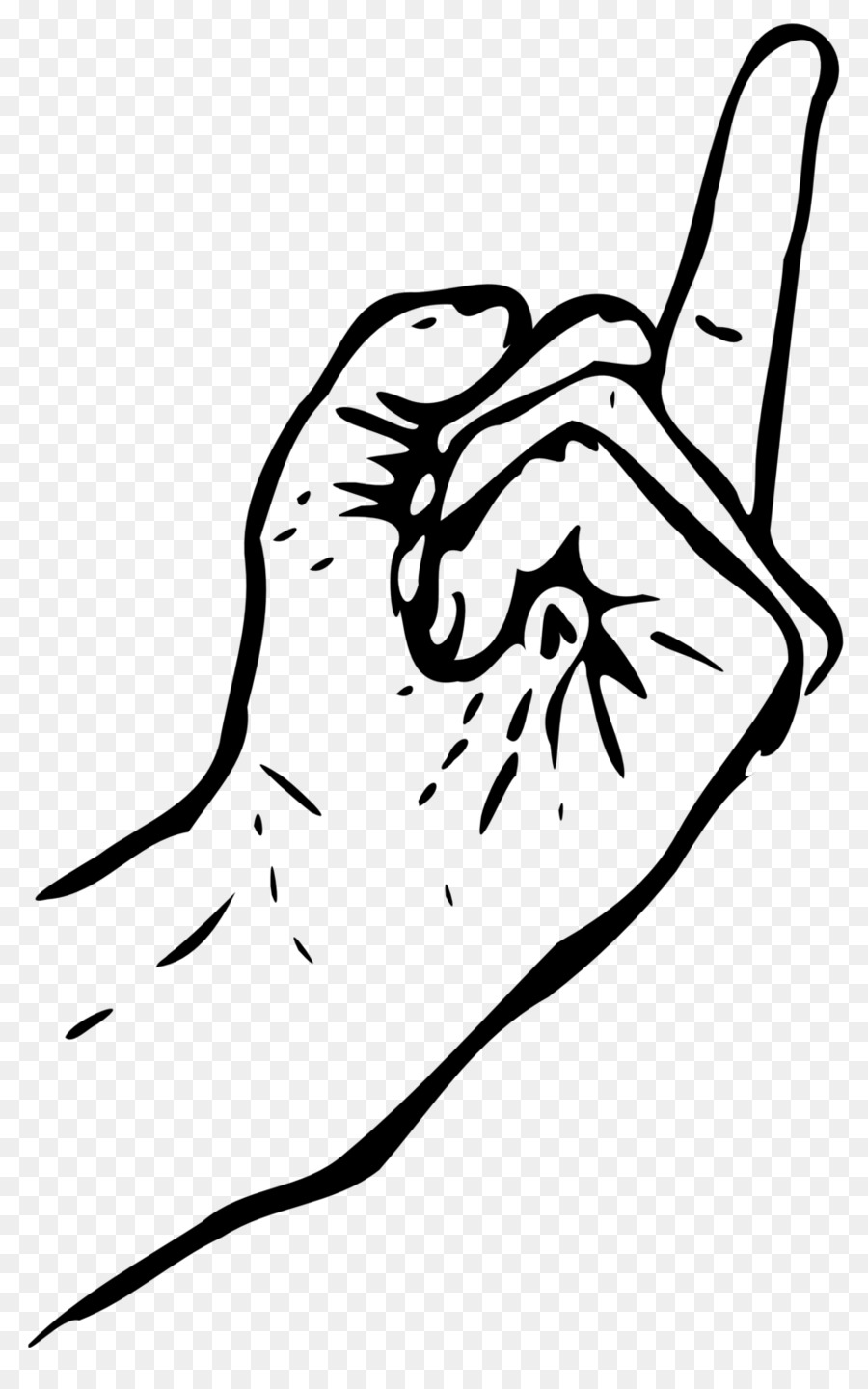 900x1440 Drawing The Finger Middle Finger Clip Art