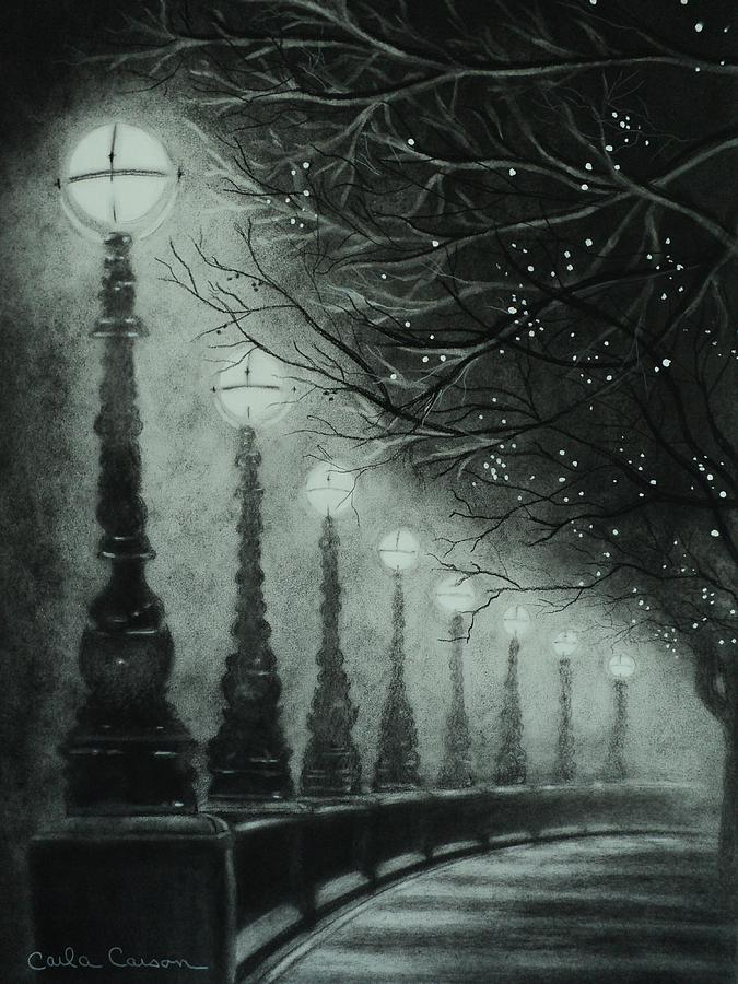 675x900 Midnight Dreary Drawing By Carla Carson