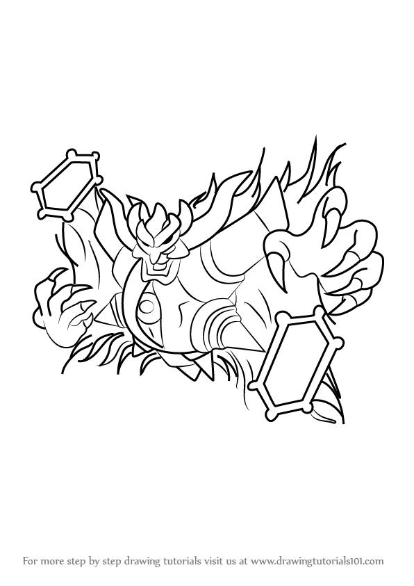 596x843 Learn How To Draw Dark Mind From Kirby (Kirby) Step By Step