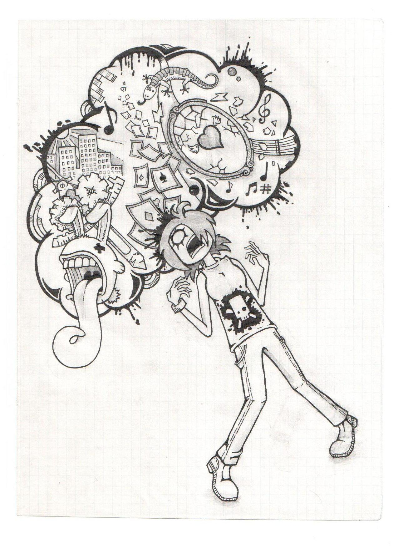 1275x1755 Collection Of Mind Explosion Drawing High Quality, Free