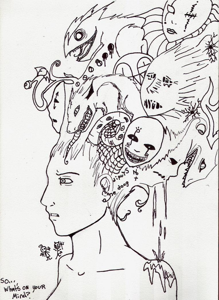 764x1045 What's Your Mind By Schitzophrenia