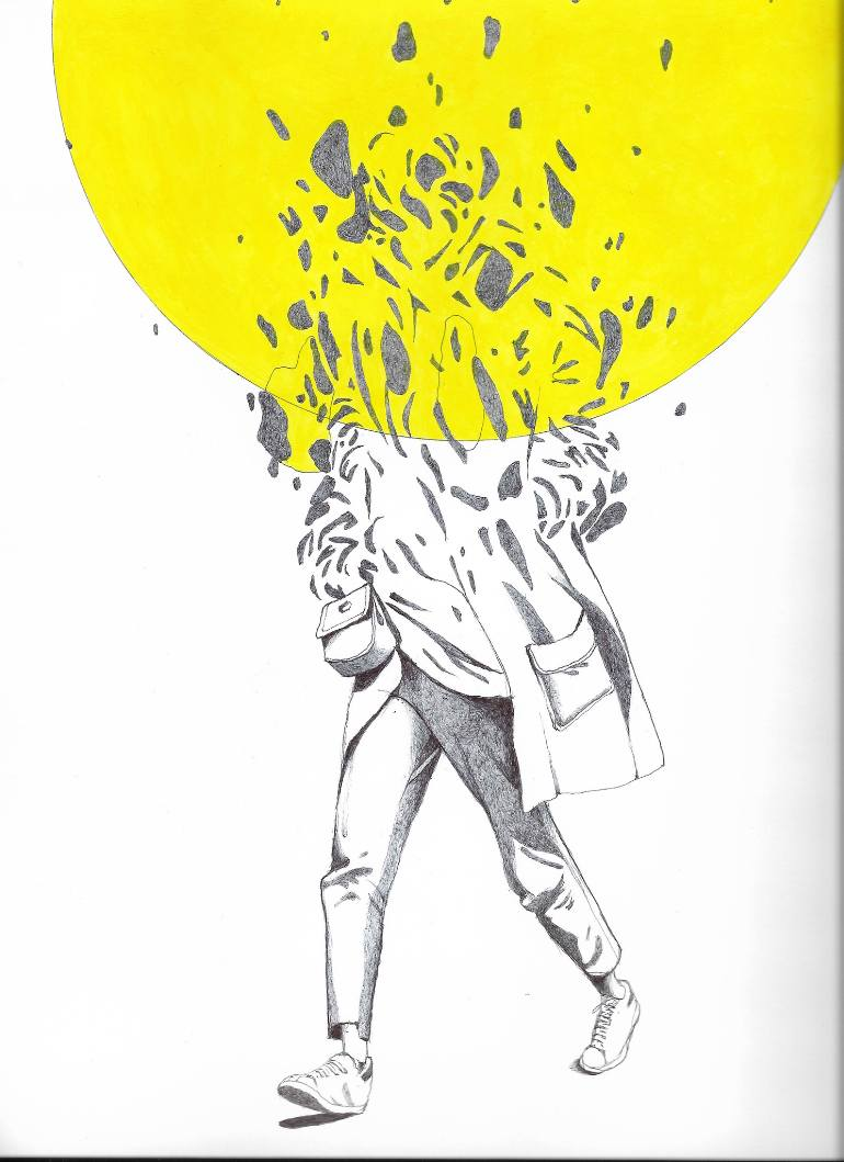 770x1059 Saatchi Art State Of Mind Drawing By Karolina Kawa