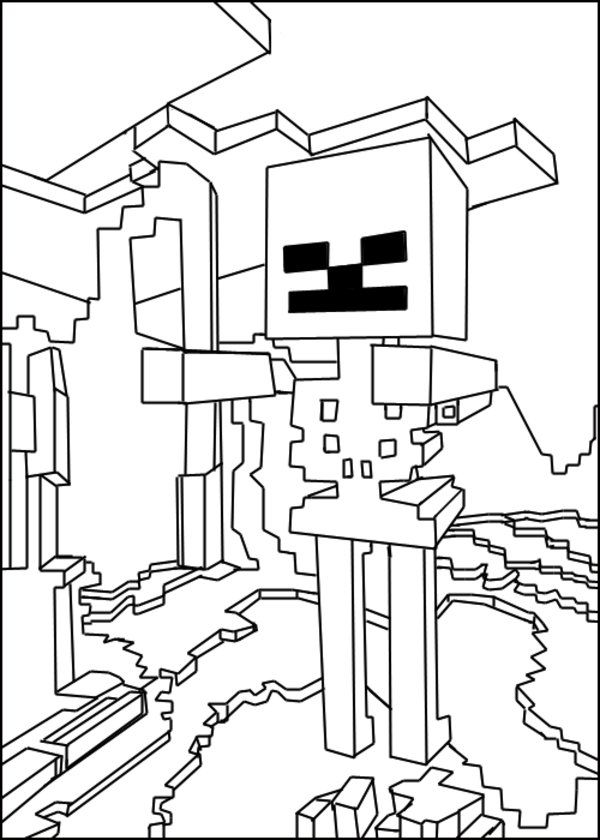 600x840 Minecraft Coloring Pages Lunch Club Kids Colouring