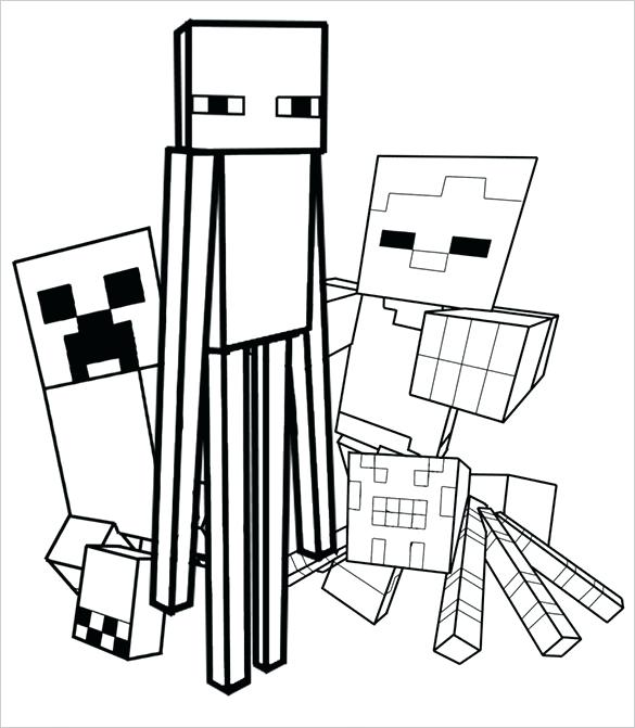 585x671 Minecraft Coloring Pages Marvelous Ideas Color Pages Coloring