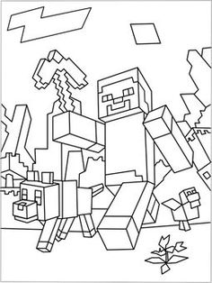 236x314 Minecraft Steve Coloring Pages For Kids Boys And Girls Minecraft