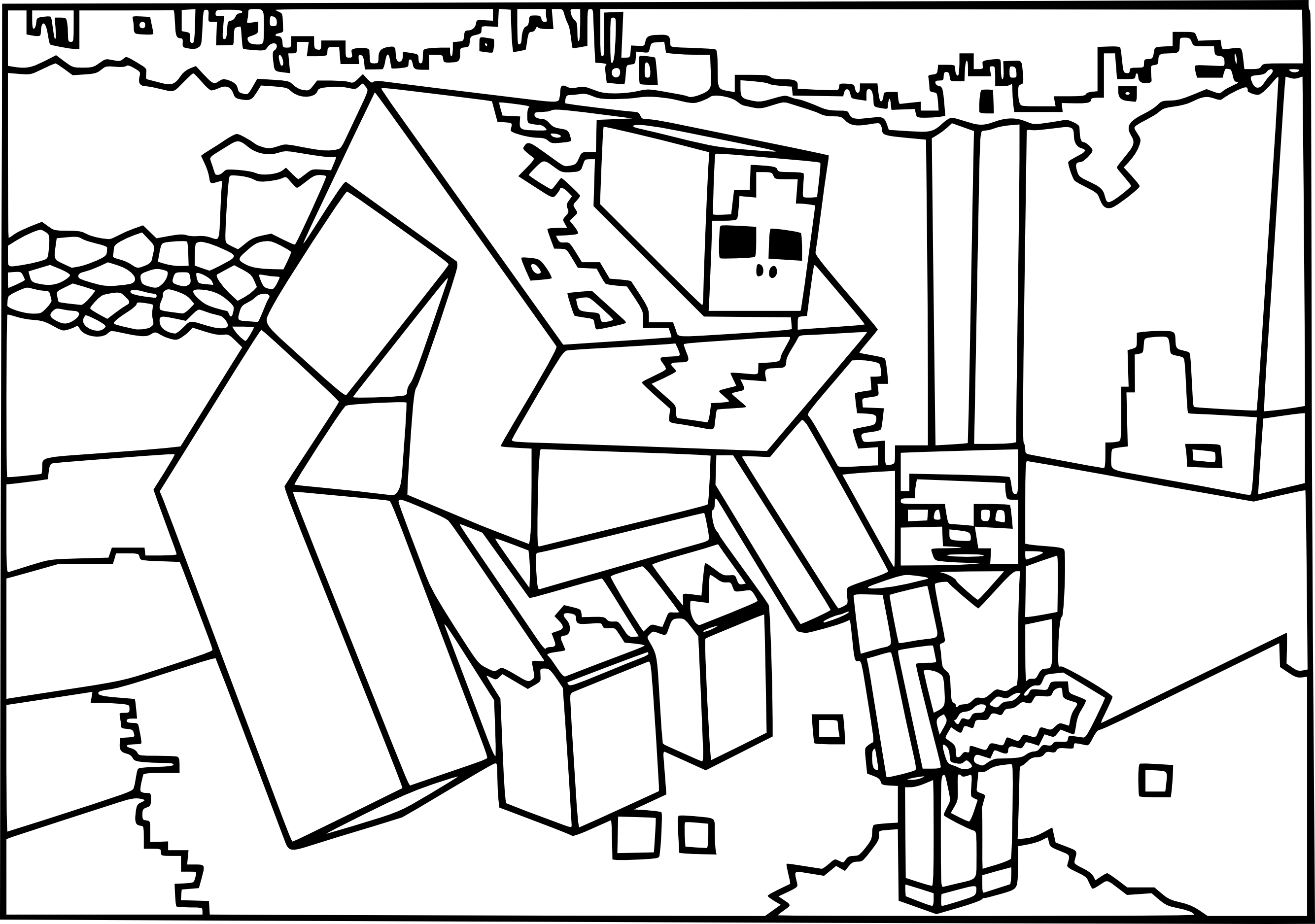 2668x1875 Trend Minecraft Mutant Zombie Coloring Pages Mermaid Preschool
