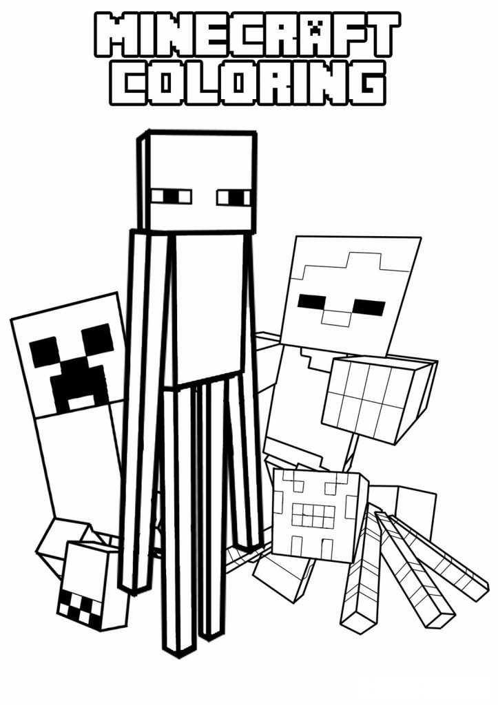 723x1024 Minecraft Coloring Pages Enderman Creeper Enderman Spider