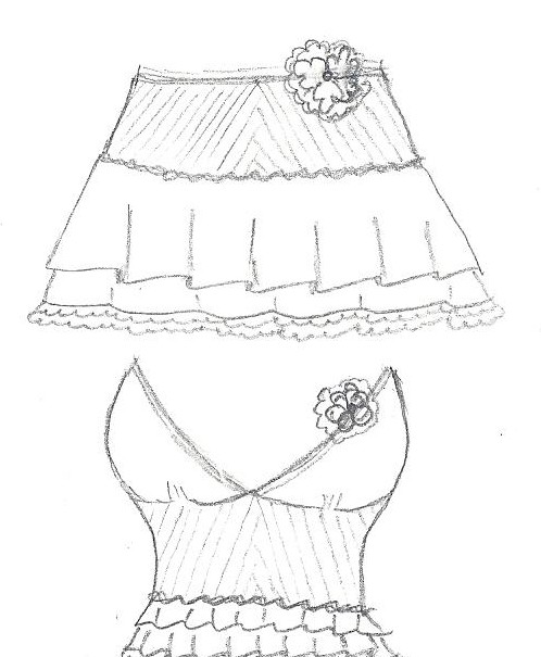 498x605 Fashion Designer. Mini Skirts And Belly Shirts Designs. ~paper