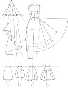 230x299 Many, Many Types Of Skirts With Their Cutting Diagrams. Very