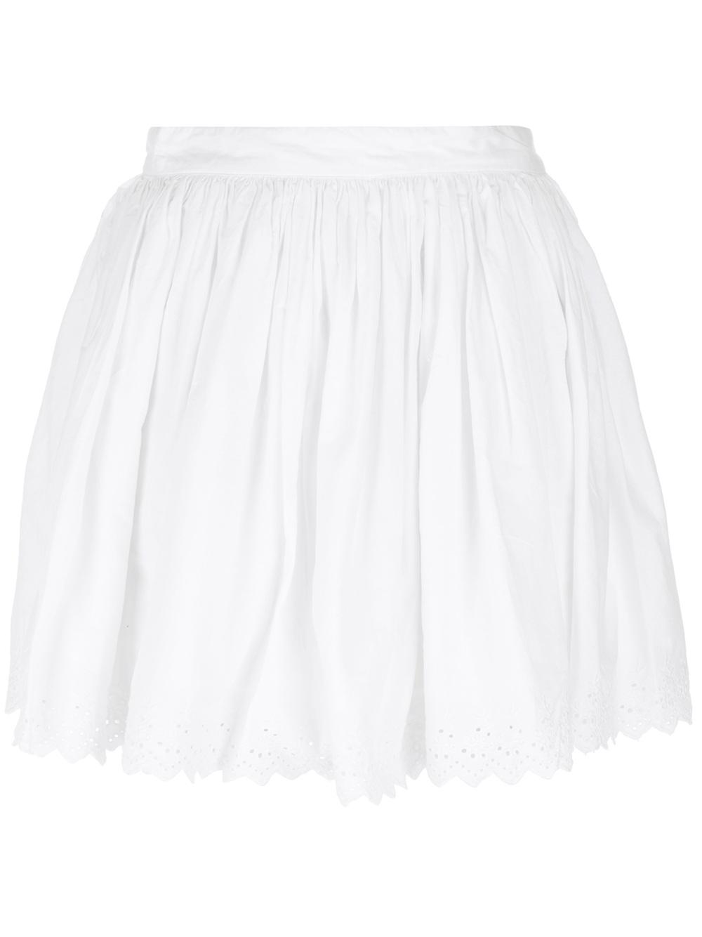 1000x1334 Ralph Lauren Embroidered Eyelet Mini Skirt In White