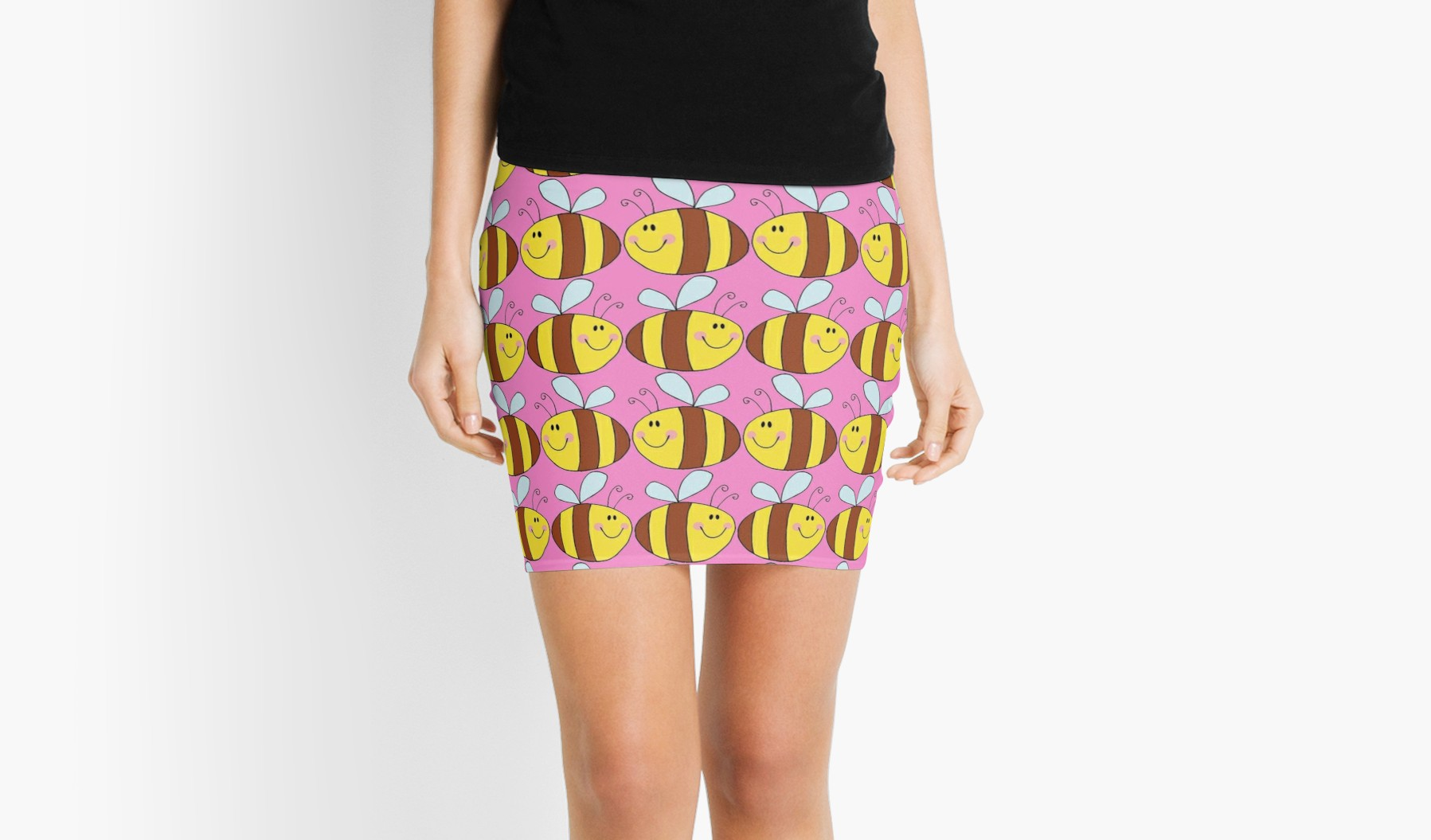 1797x1055 Cute Bumble Bee Drawing Mini Skirts By Ironydesigns Redbubble