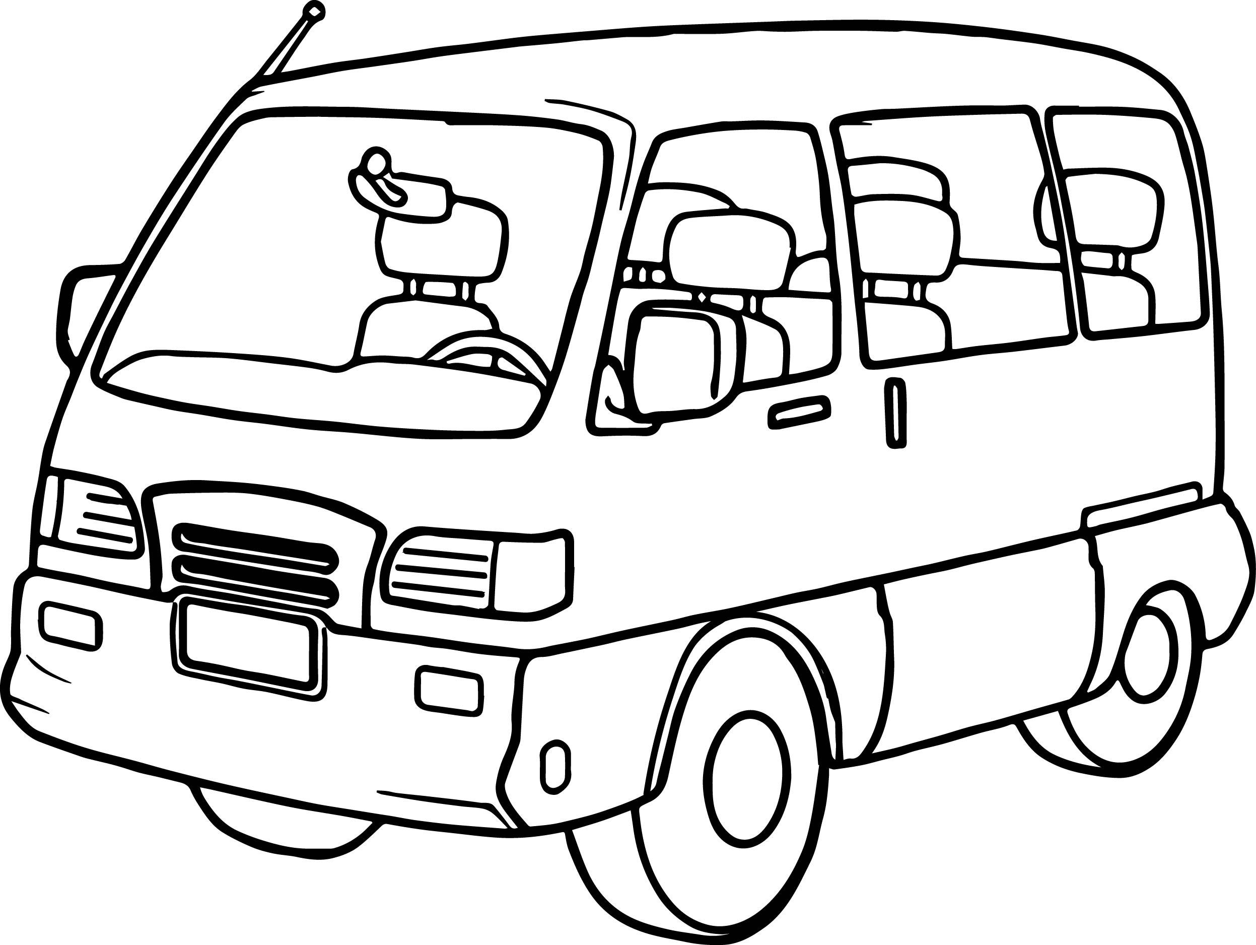 Minibus Drawing