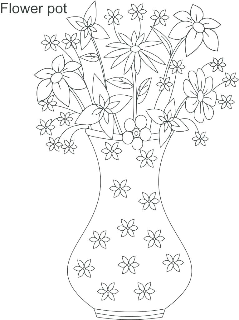 766x1024 Minimalist Flower Pot Coloring Page Kids Coloring Pages Minimalist
