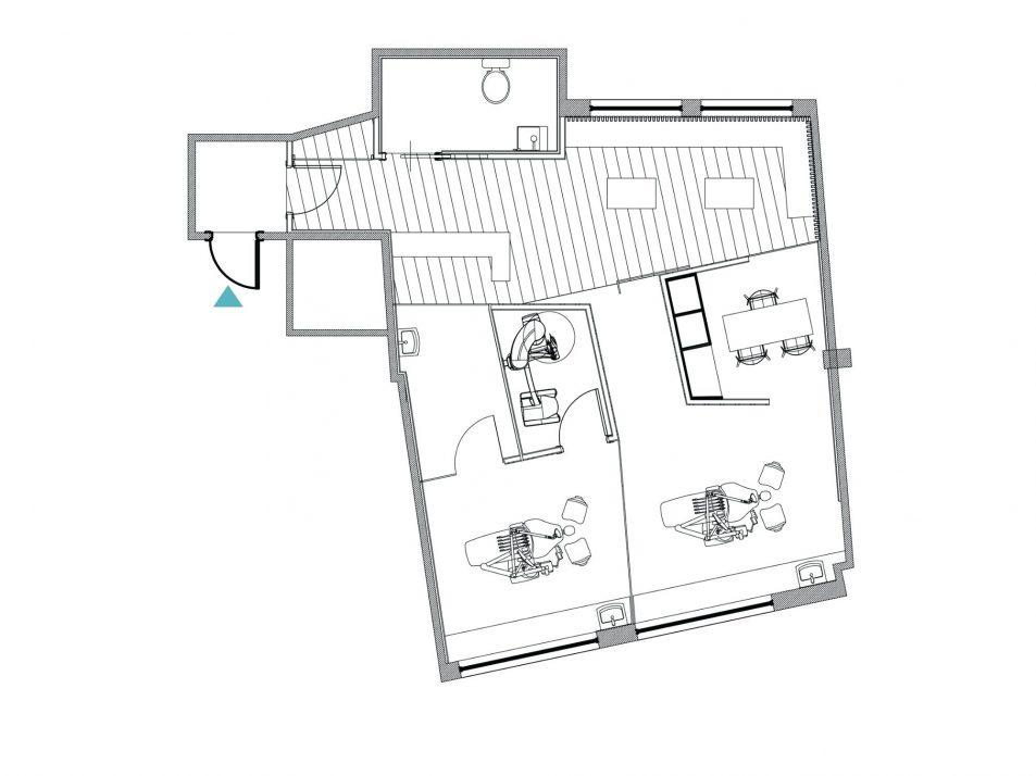 953x714 Office Design Small Dental Clinic Floor Plan Irregular Room Idea